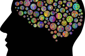 This shows a brain made up of cog wheels