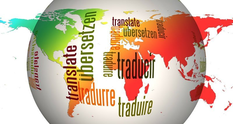 This shows the word translate in different languages