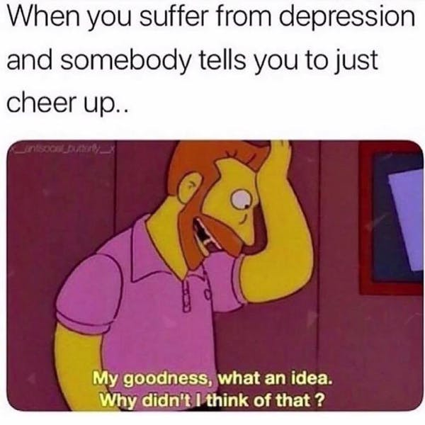 This shows a depression meme
