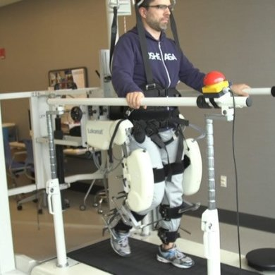 This shows the robotic walking machine