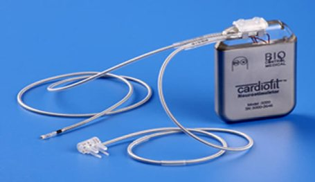 Cardiofit vagus nerve stimulation implant device is shown.
