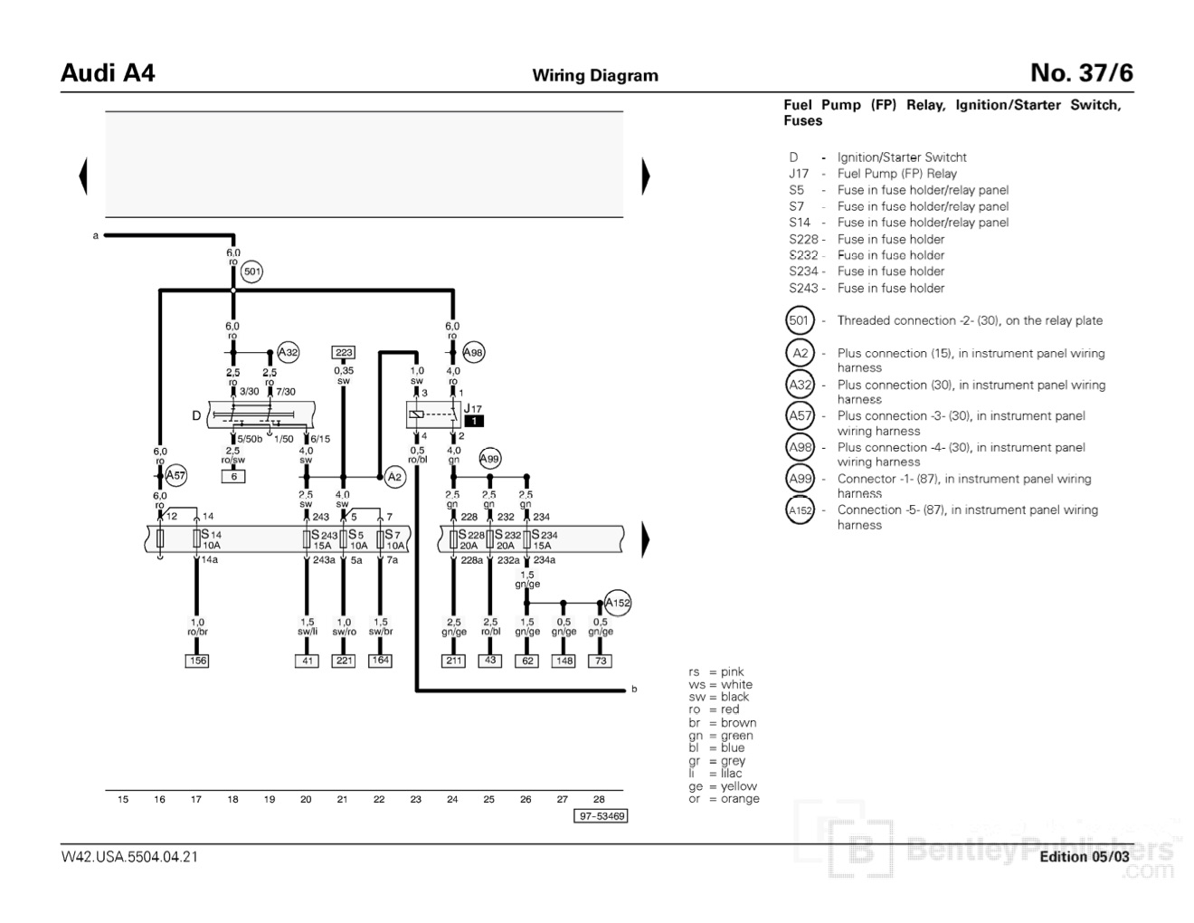 E30 Fuse Box Diagram
