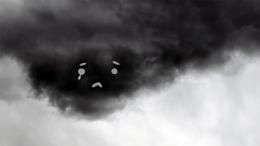 Sad cloud is sad.