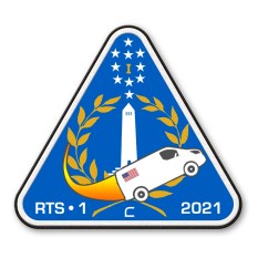 The patch to be worn by the crew sent on the mission to Chalmette in 2021.