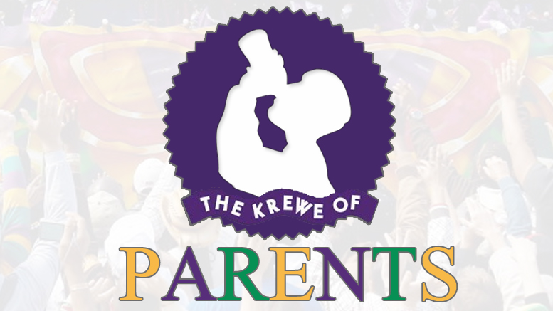 Krewe of Parents parade to throw tons of crap they want out of the house in New Orleans Mardi Gras