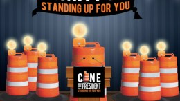 New presidential poll finds New Orleans vastly favor sentient network of construction cones as candidate of choice - New Orleans news - Neutral Ground News - Presidential Debate 2020