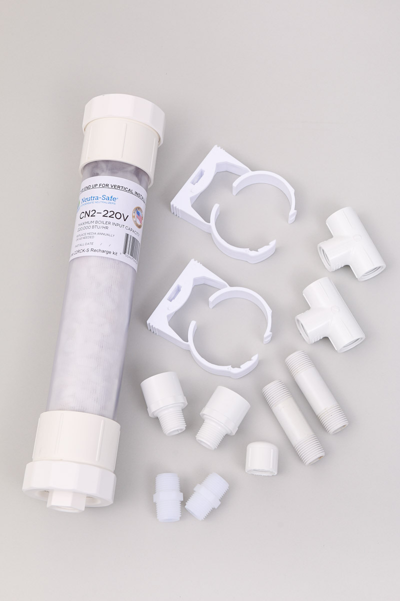 CN2-220VK Clear Tube Condensate Neutralizer