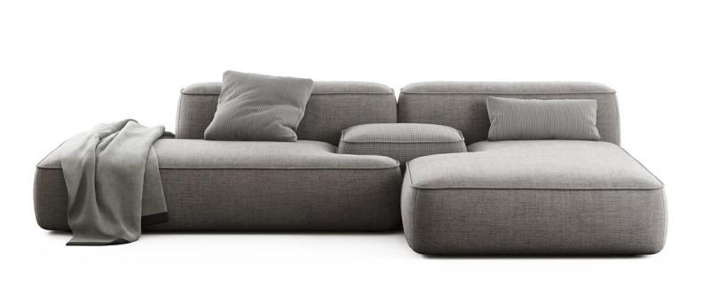 Modern long cloud sofa
