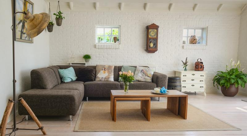 Beautiful organized living room