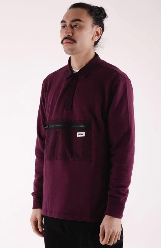 Johan Dusk Organic Rugby Sweatshirt - WAWWA Clothing