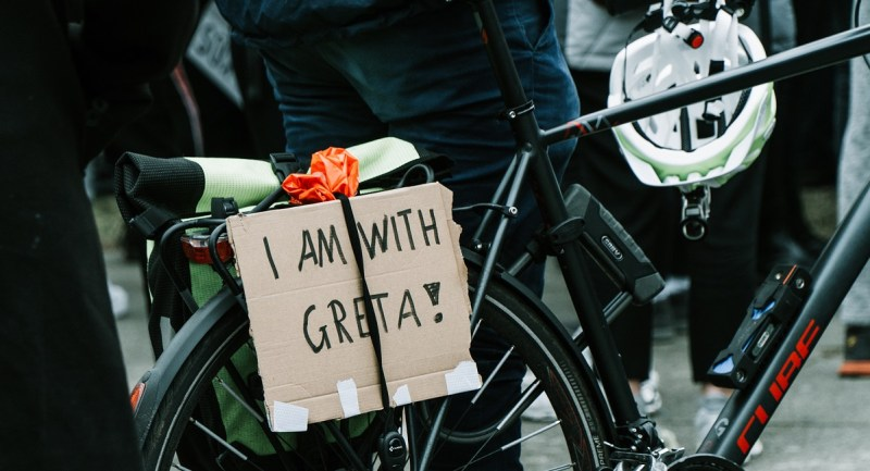 Encourage biking to make schools greener