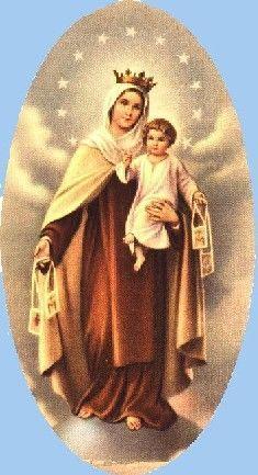Résultats de recherche d'images pour «une petite fille couverte de notre dame du mont carmel*»
