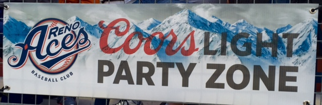 Coors Light Party Zone Sign