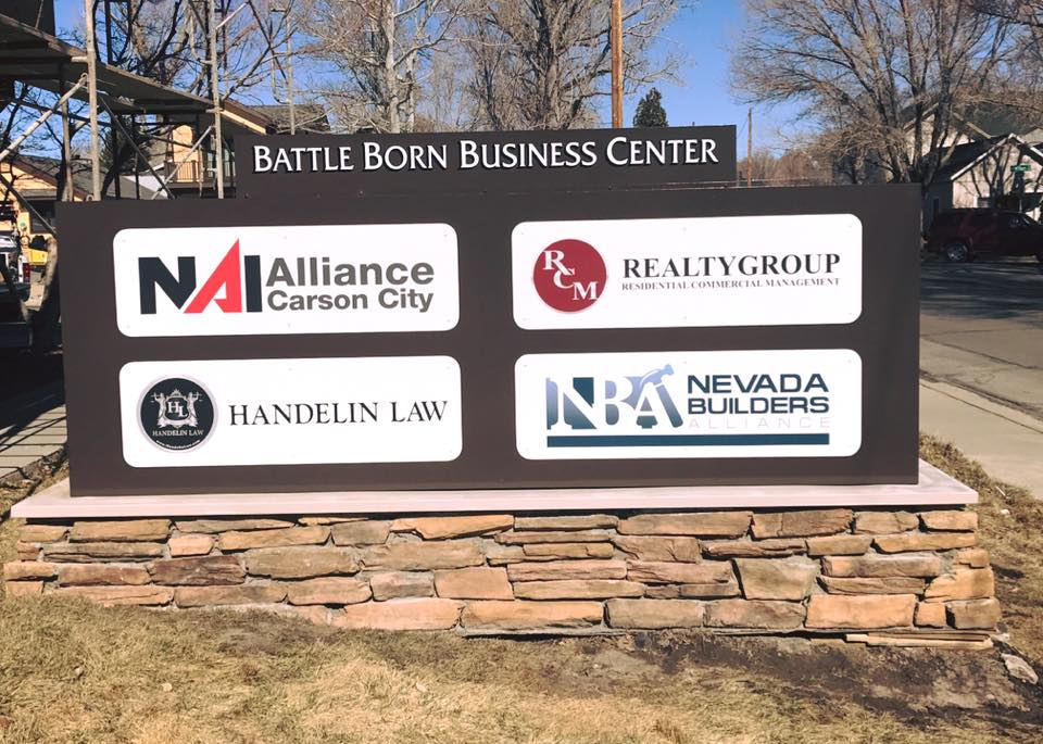 New Sign Battle Born Business Center