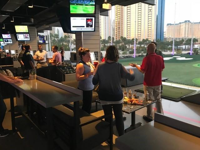Crowds st Top Golf