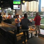 Crowds st Top Golf