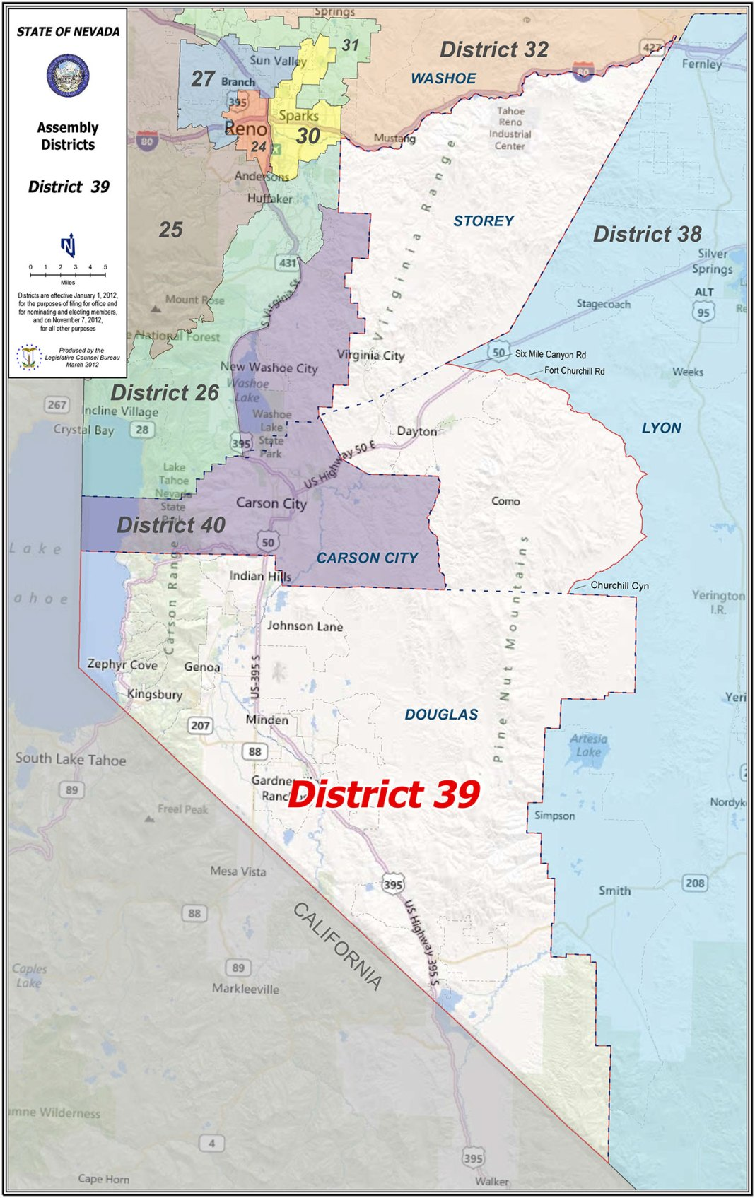 Nevada Assembly District 39 - image - State of Nevada.
