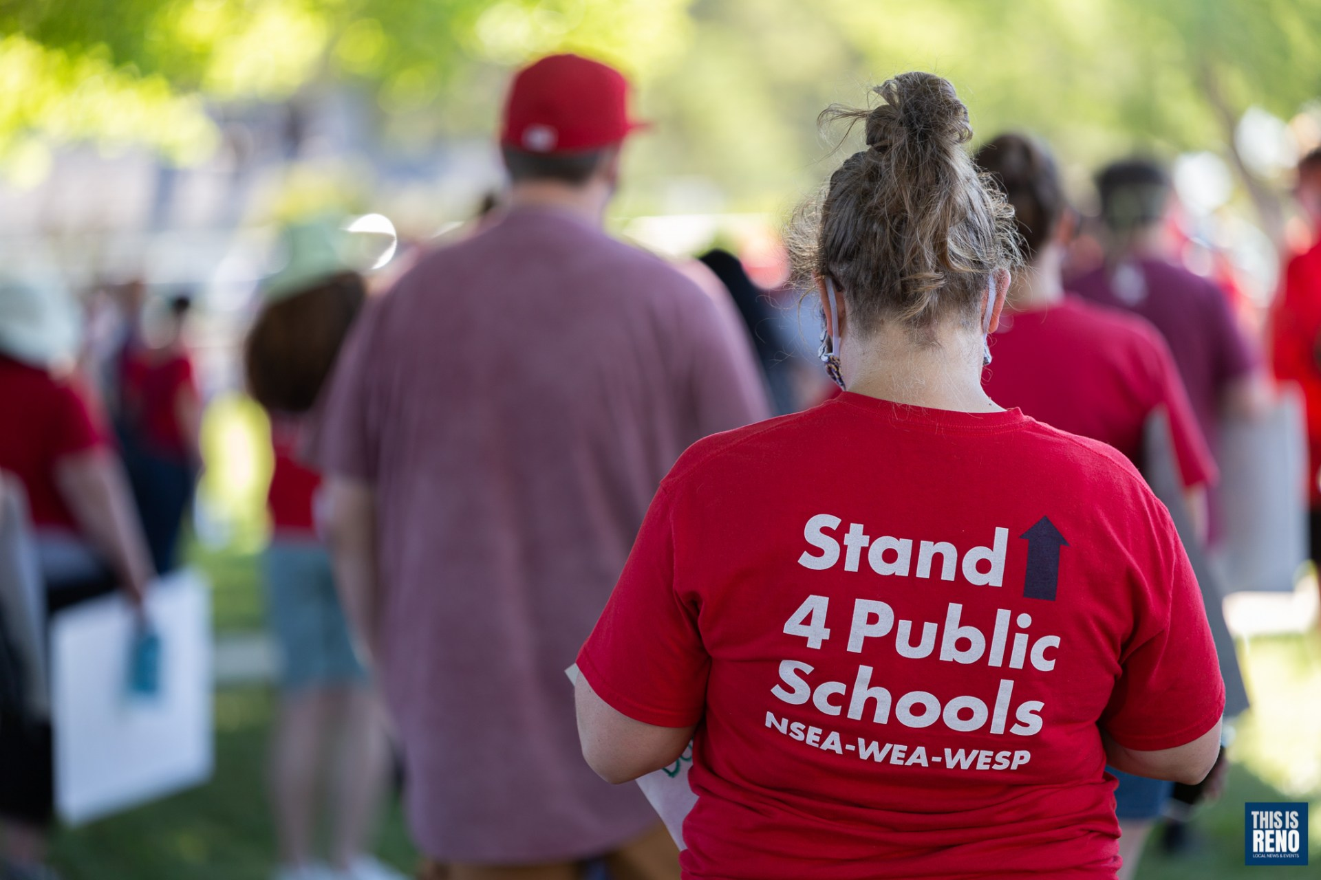 Save Our Schools: Protest and March for Responsible Reopening in Washoe County. Image: Trevor Bexon / This Is Reno.