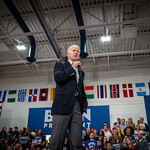 On the eve of the Iowa caucuses, Vice President Joe Biden holds a campaign rally at Hiatt Middle School.