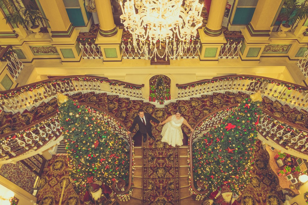 Royal hotel Scarborough Christmas wedding photographer North Yorkshire
