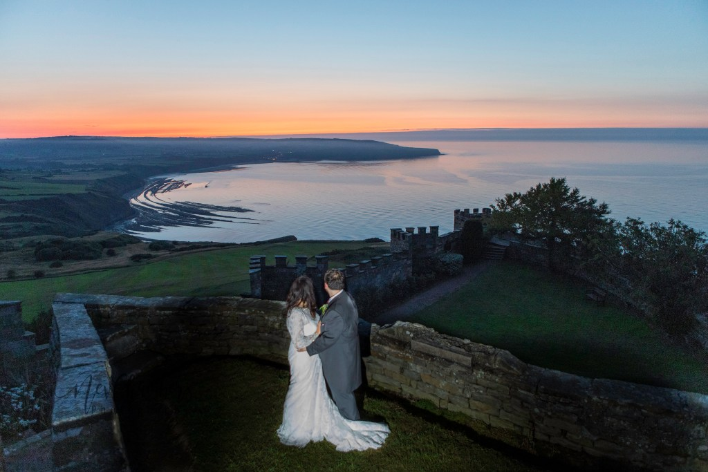 Bride, Groom, wedding day, Ravenhall Hotel, North Yorkshire, Whitby