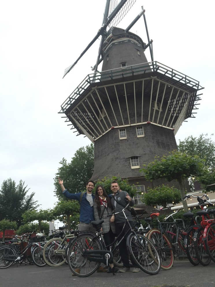 Windmill, bicycles, beer
