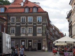 The charming reconstructed buildings of the Old Town.