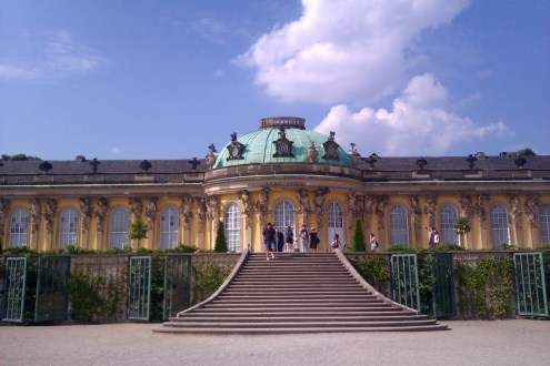 The vineyard stairways leading up to the Sanssouci palace