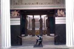The inside of the Roman baths