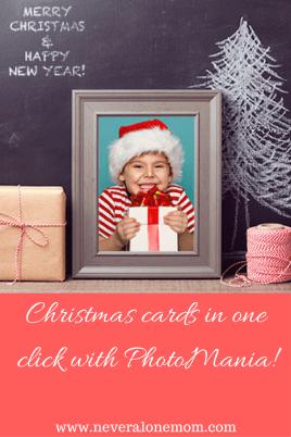 Christmas cards with Photomania! |neveralonemom.com