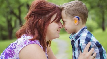 Mother and son with hearing loss | neveralonemom.com