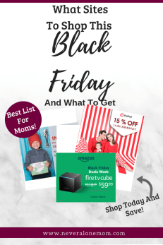 The Best Websites To Shop For Great Deals This Black Friday! | neveralonemom.com
