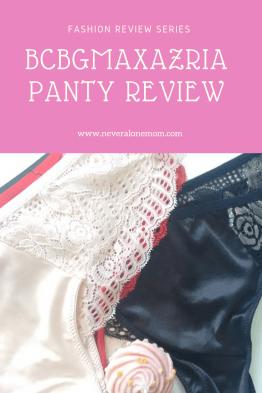 BCBGMAXAZRIA panty review |neveralonemom.com