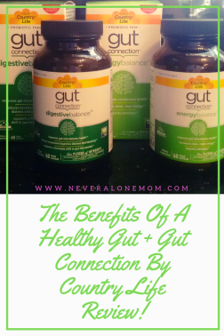 Gut Health and gut connection by country life review! |neveralonemom.com