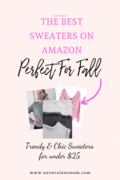 Fall fashion and sweaters from Amazon |neveralonemom.com