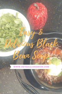 Black bean soup recipe! |neveralonemom.com