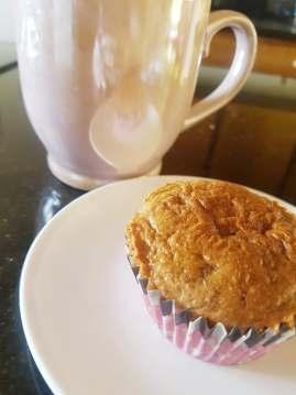 Almond butter muffin recipe |neveralonemom.com