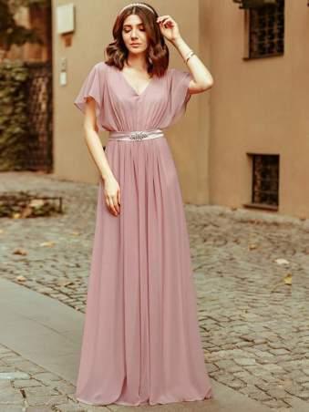 flutter sleeve maxi dress |neveralonemom.com