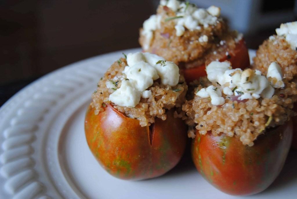 Quinoa and Goat Cheese Stuffed Tomatoes