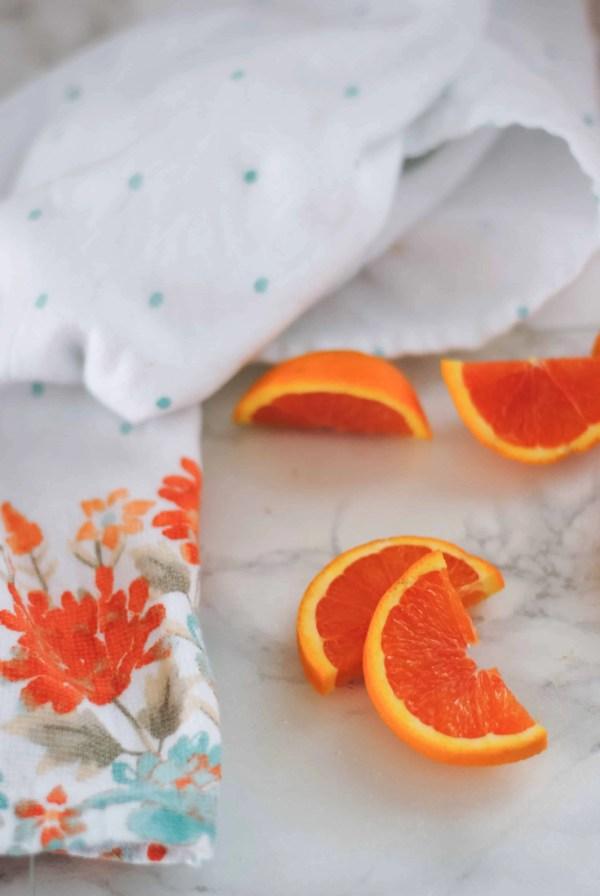 Blood orange in kitchen