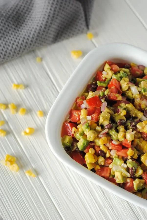 avocado, corn, black bean, and tomato salad recipe