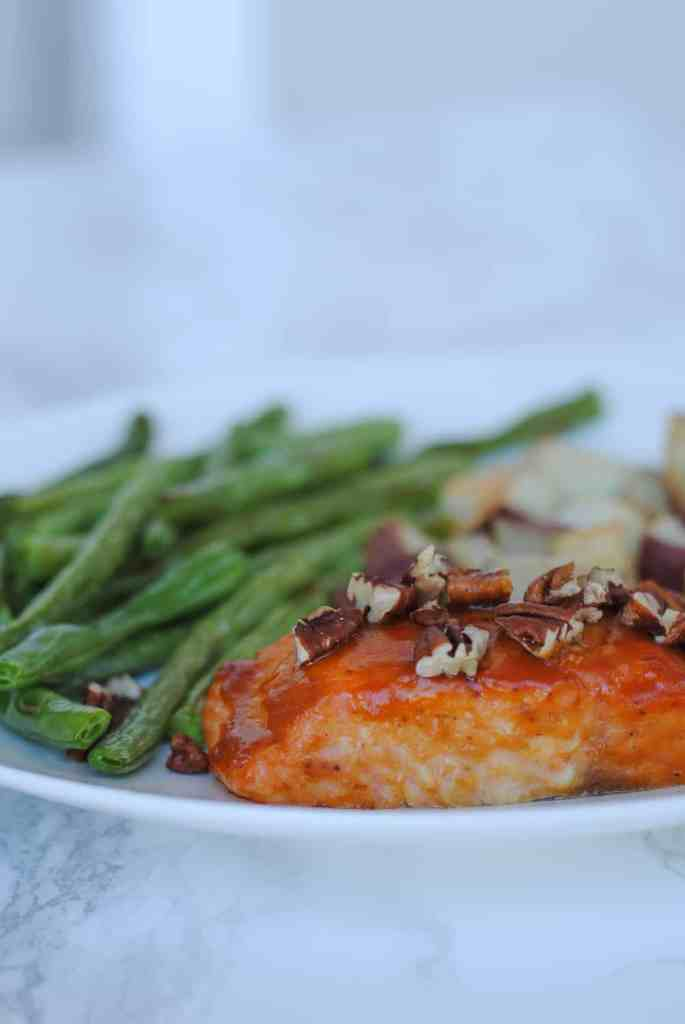 salmon with green beans and potatoes