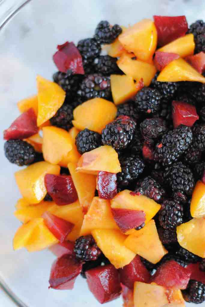 blackberries peaches and plums