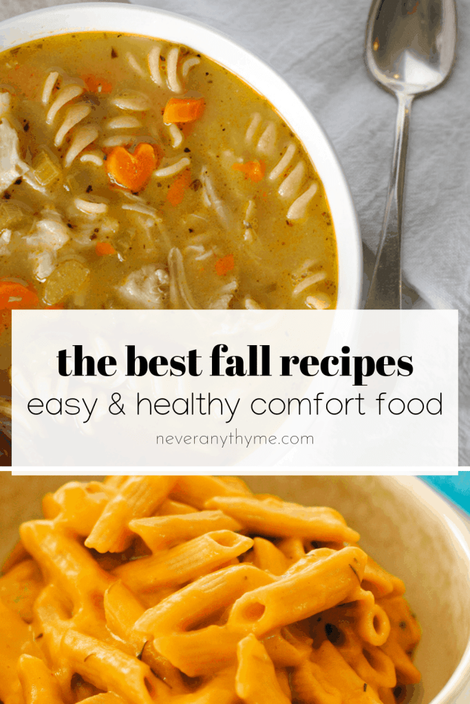 chicken soup and mac and cheese are two of the best recipes for fall