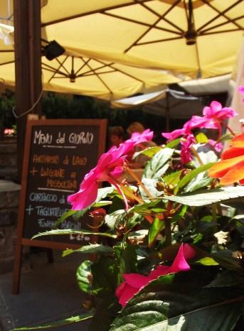 Italian menus and flowers