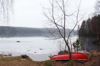 The almost frozen lake - Hauho, Finland
