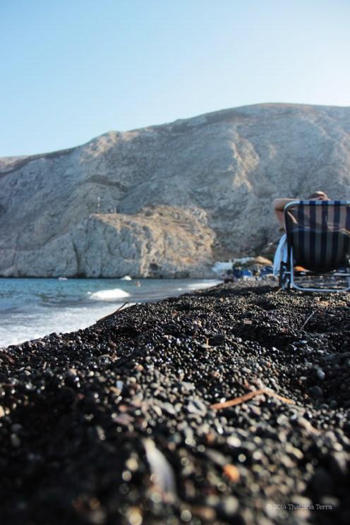 Santorini Series (Gallery 6): Kamari Beach and its straw umbrellas (5)