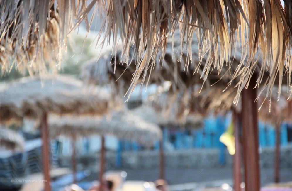 Santorini Series (Gallery 6): Kamari Beach and its straw umbrellas (9)