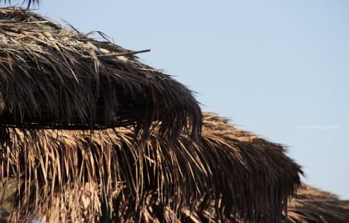 Santorini Series (Gallery 6): Kamari Beach and its straw umbrellas (11)