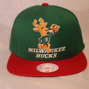 Mitchell and Ness Milwaukee Bucks NBA Wool Solid HWC Snapback Cap
